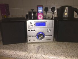 ALBA CD/MP3 Docking Station for IPod with two detachable speakers