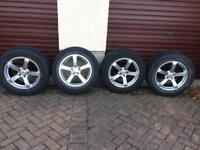 4xNOKIAN WR G2 SPORT UTILITY ALL WEATHER PLUS 255/60 R18 112H XL WITH CRUISE WHEELS 5x108 VOLVO XC90