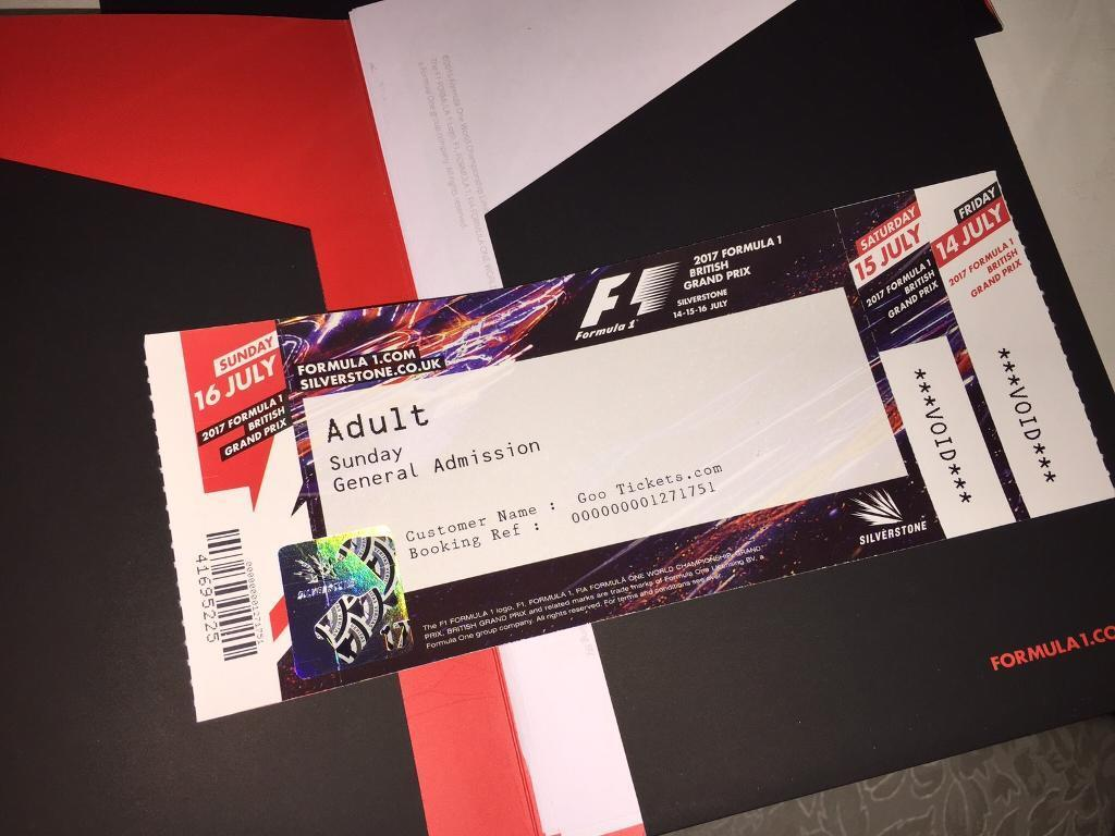 formula One Ticket British Grand Prix Silverstone | in Croydon ...