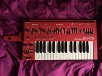 RARE RED Roland SH 101, SH101 analog synthesizer, bassline, synth