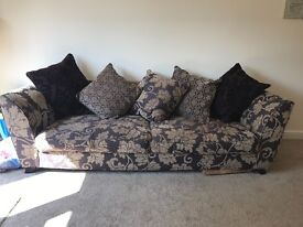 Large DFS sofa with washable scatter cushions
