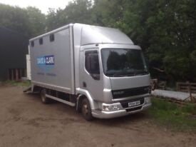 Leyland Daf horsebox lorry/wagon/trailer/equestrian/horse transport