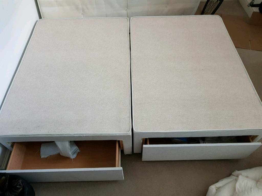 Double Bed Base Only with 4 Drawers