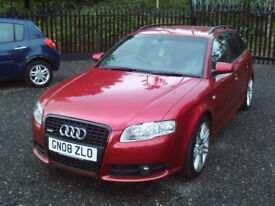AUDI A4 AVANT 2.0 TDI S LINE SPECIAL EDITION 170 BHP SAT-NAV 2 TONE LEATHER 6 SPEED F.S.H MOT EXTRAS