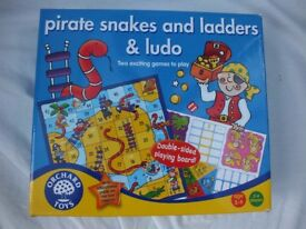 Pirate Snakes and Ladders & Ludo Orchard Game (suitable for 5-9 years)