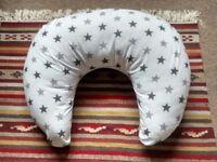Breastfeeding cushion/pillow white with grey stars
