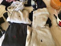4 Ralph Lauren sweat shirts