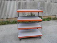 mobile racking with adjustable shelves
