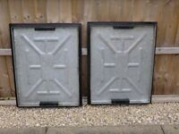 four heavy duty manhole covers for sale