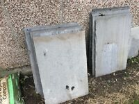 Limestone paving slabs, blue/black, new,