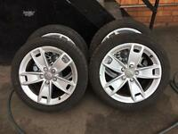 Audi A3 sport genuine alloy wheels with 6mm tyres 5112 vag Audi golf caddy mk5 seat Leon alloys