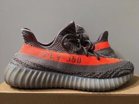 Adidas Yeezy 350 Boost V2 Beluga Solar Red Grey New with Box and Tag