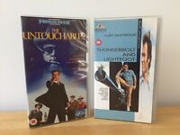 VHS Video Tapes RAGING BULL, THE UNTOUCHABLES and THUNDERBOLT & LIGHTFOOT