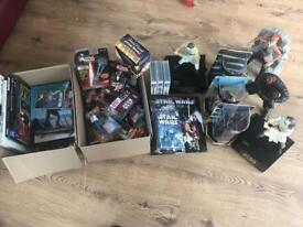 Star wars figures, books, toys etc.... over 50 items