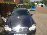 Mercedes c220cdi coupe 2003 mint engine can be herd running tax test out auto box broke