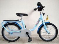 "(2738) 16"" Lightweight PUKY Z6 OCEAN Boys Girls Kids Childs Bike Bicycle; Age: 5-7, 107-122 cm"