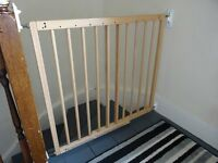 BabyDan MultiDan Beechwood Baby Safety Stair Gate Wall Mounted Barrier