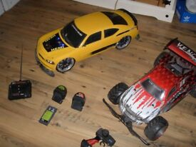 REMOTE CONTROL DODGE RC CAR AND VENOM RC BUGGY