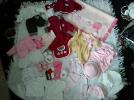 BABY ANNABELL AND OTHER DOLL PIECES PLUS BABY ANNABELL BLANKET