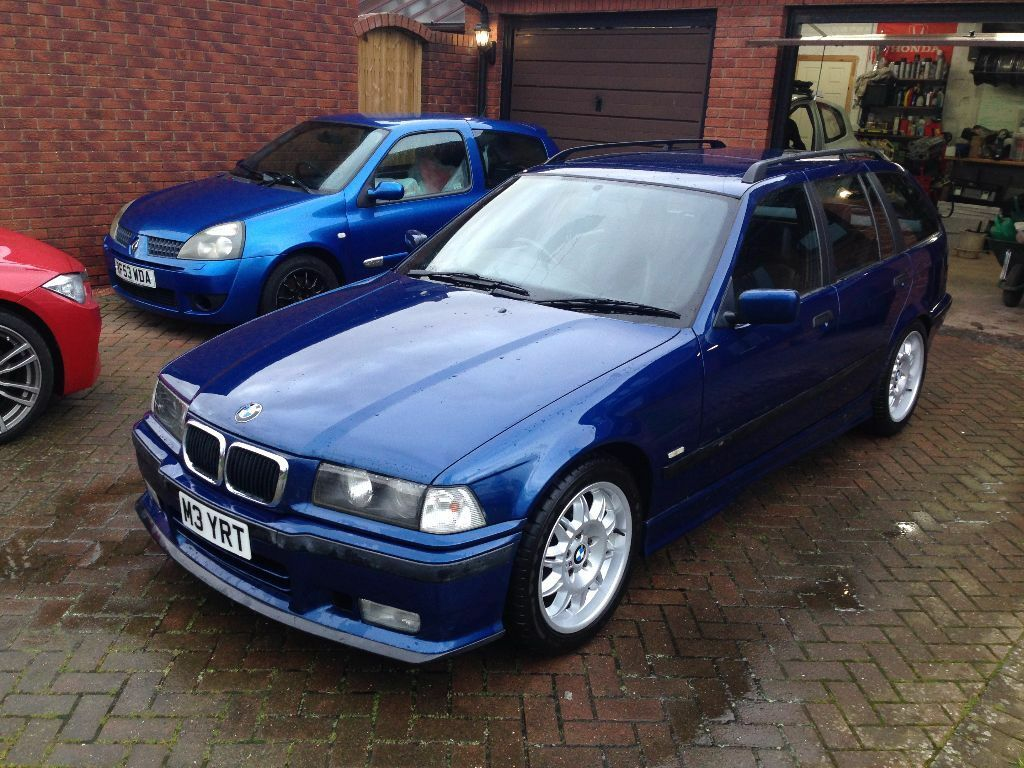 bmw e36 323i sport touring estate avus blue m3 evo bits good spec with history and long mot. Black Bedroom Furniture Sets. Home Design Ideas