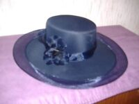 navy wedding hat