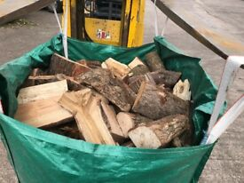 Dry hard wood logs