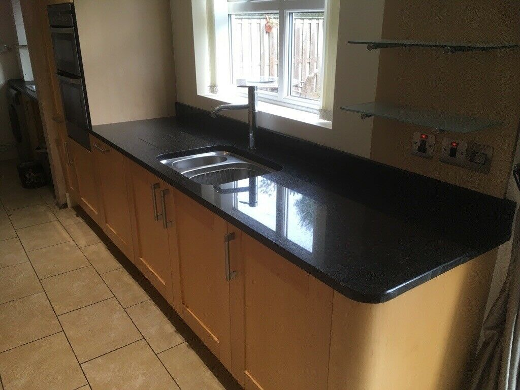 Granite Worktops 1x Breakfast Bar Corner Unit Sink Cut Out