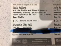 2 x Tickets to Jools Holland and his Rhythm & Blues Orchestra