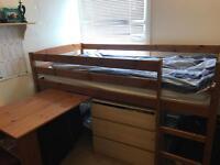Single kids high bed
