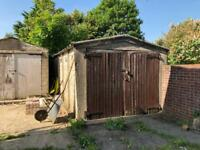 Free concrete panelled garage