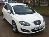 Seat Leon TDI Se ECOMOTIVE, White, FSH, Fully Loaded with extras