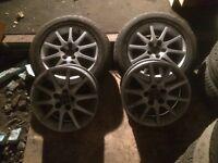 2 tyres and alloys 2 alloys SAAB 215/55/16