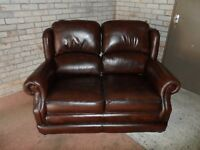 Two seater sofa brown leather