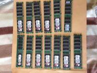 13 x 512mb sticks of Kingston DDR2 memory full size modules £10 the lot