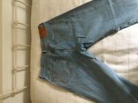 Levi's 501 CT Light wash straight cut, hardly worn in very good condition W36 L32