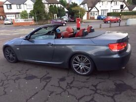 bmw 3 series m sport convertible red leather mint condition 85 thousand