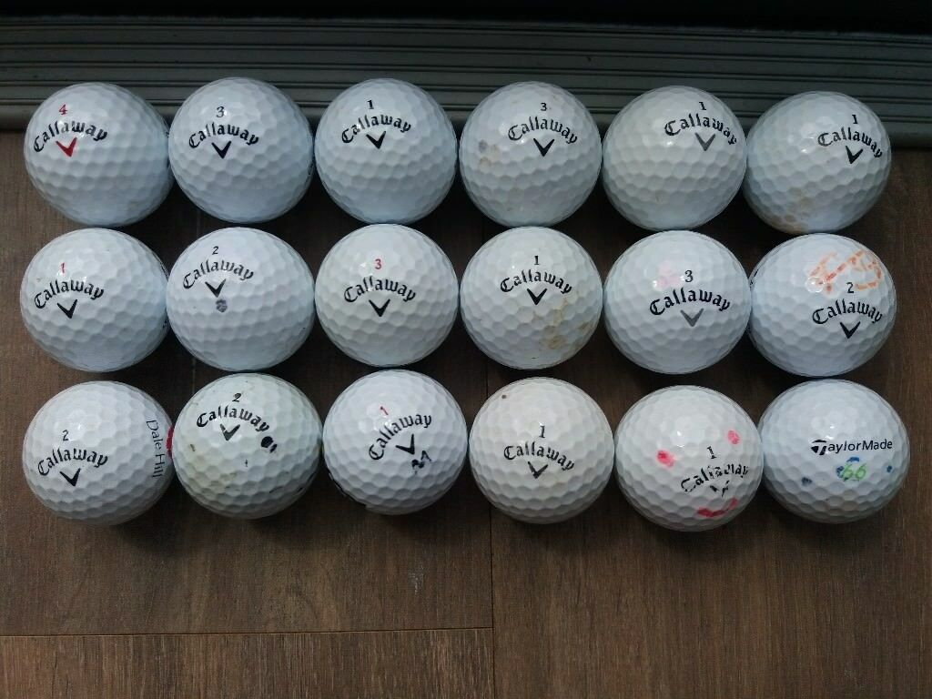 100 Titleist, Callaway, Srixon, Wilson and other used golf balls