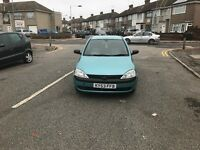2003 vauxhall corsa 1.2 petrol 8 months mot and very very good ondition any test welcome