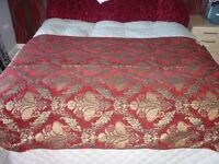 Red abd Gold reimmed Throw with matching cushion
