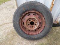 14 inch Caravan / trailer spare wheel & tyre