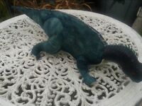 LARGE DINOSAUR SOFT TOY WITH PLASTIC HEAD. BEDROOM. NURSERY. LOTS OF SOFT TOYS FOR SALE. COLLECTABLE