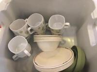 Camping mugs and bowls