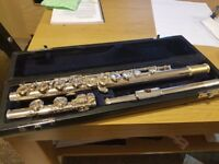 Beaumont Grace Solid Silver Tube Semi-Professional Flute