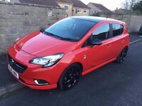 limited edition black on red vauxhall corsa