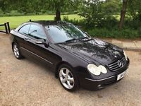 MERCEDES CLK COUPE 2003 AUTOMATIC. FULL LEATHER 1 YEARS MOT DRIVES THE BEST