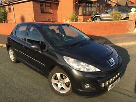 Peugeot 207 ENVY 1.6 HDI, ONLY 39,500 MILES!!! 5 door hatch, bluetooth, USB, MOT till MAY 2017