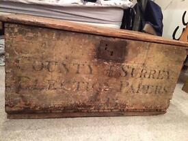 Beautiful vintage wooden box