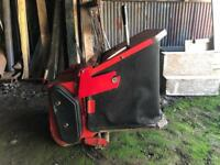 Countax sit on lawnmower sweeper & collection box