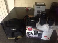 Canon Camera EOS 1200D with lots of extras (another lense, carrier bag, SD card...) Like new!