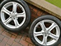 Audi A6 A4 17 inch wheels to fit VW Seat Skoda 5x112 ET45 with 225/50R17 tyres in Magherafelt £199